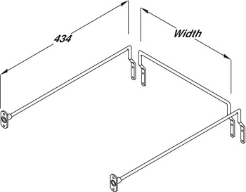 Gallery Rail Set, to Make Standard Drawer into a High Sided Drawer, Steel