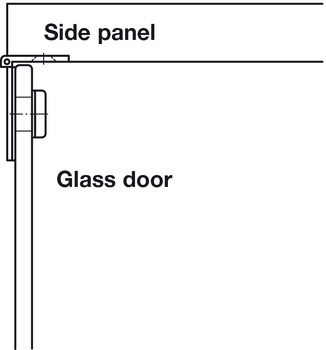 Glass Door Hinge, 180°, for 6 mm Glass Thickness