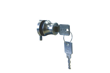 Glass Door Lock, for Glass Panels from 4-6 mm, Cylinder