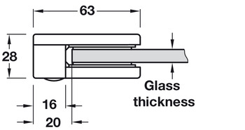 Glass Holder, Suitable for Wall Installation