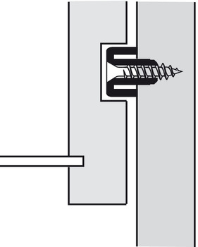 Guide Rail, for 17 mm Grooved Drawers, Plastic