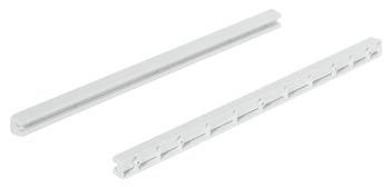 Guide Rail, Screw Fixing, for Wire Baskets with Gliding Edge, Plastic