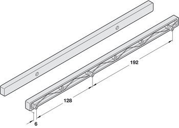 Guide Rails, for 17 mm Grooved Drawers, Plastic