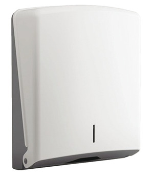Hand Towel Dispenser, for Wall Mounting, White ABS