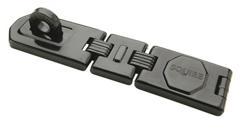 Hasp and Staple, Double Hinge, 245 x 40 mm, Hardened Steel Staple