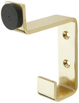 Hat and Coat Hook, Buffered, Brass, 64 x 85 mm