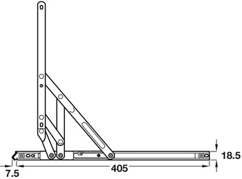 Heavy Duty Friction Hinge, Heavy Duty, for Side Hung Windows, Loadpro Egress/Easy Clean