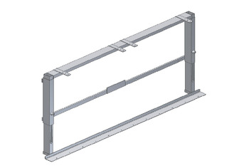Height Adjustable Frame, for Wall Units, VertiBasic, Ropox
