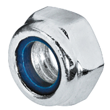 Hexagon Locking Nut, Galvanized Steel with Nylon Insert