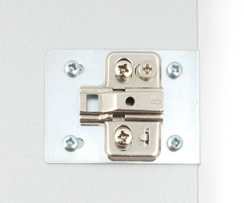 Hinge Repair Plates, for Mounting Plates with Pre-Mounted Euro Screws
