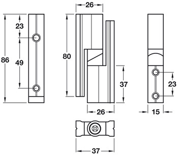 Hinge Set, Heavy Duty, Cubicle Fittings