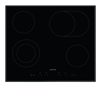 Hob, Ceramic, Touch Control with Angled Edge Glass, 600mm, Smeg