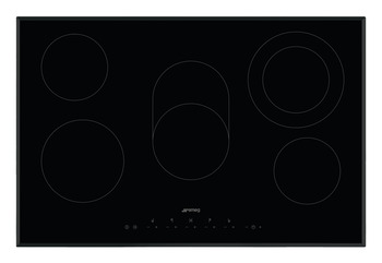 Hob, Ceramic, Touch Control with Angled Edge Glass, 770mm, Smeg