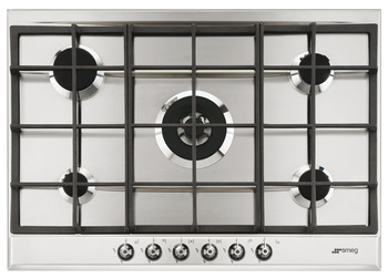 Hob, Gas, 730 mm, With Cast Iron Pan Stands, Smeg Classic