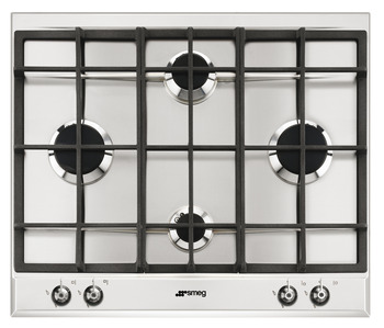 Hob, Gas, Cast Iron Pan Stands, 600 mm, Smeg Classic