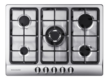 Hob, Gas, Five Burners, 700 mm, Rangemaster