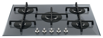 Hob, Gas on Glass, 5 Burners, Smeg Cucina