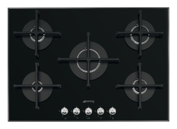Hob, Gas on Glass, 5 Burners, Smeg Linea