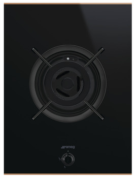 Hob, Gas on Glass Ceramic with One Burner, 380 mm, Smeg Dolce Stil Novo