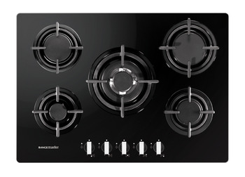 Hob, Gas on Glass, Five Burners, 700 mm, Rangemaster