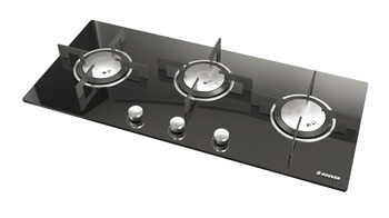 Hob, Gas on Glass, Three Burners, 900 mm, Hoover Vogue