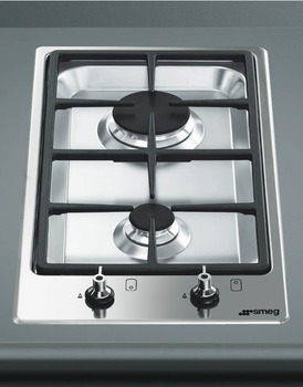 Hob, Gas, Ultra Low Profile, Domino, 310 mm, Smeg Classic
