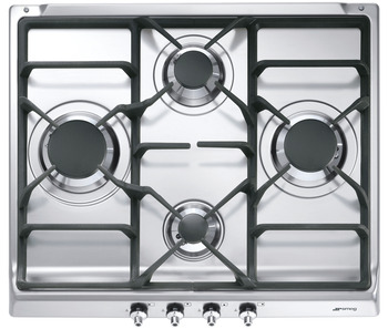Hob, Gas, with Cast Iron Pan Stands, 600 mm, Smeg Classic