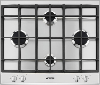 Hob, Gas with Four Burners in Diamond Configuration, 600 mm, Smeg