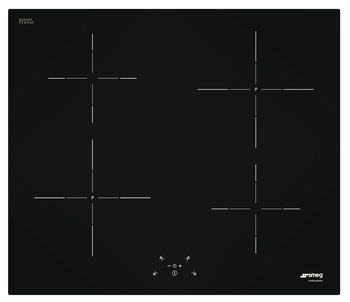 Hob, Induction, Touch Control Induction Hob with Straight Edge Glass, 600 mm, Smeg Cucina