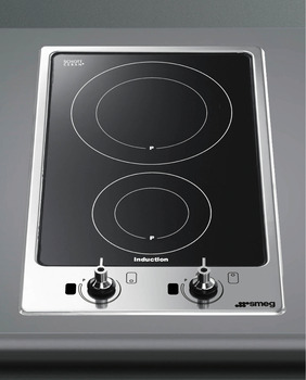 Hob, Induction, Ultra Low Profile, Domino, 310 mm, Smeg Classic