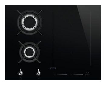 Hob, Mixed Fuel with Gas Burners and Induction Multizone, 650 mm, Smeg Classic