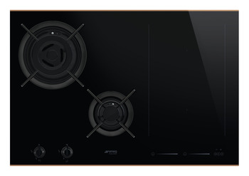 Hob, Mixed Fuel with Gas Burners and Induction Multizone, 750 mm, Smeg Dolce Stil Novo