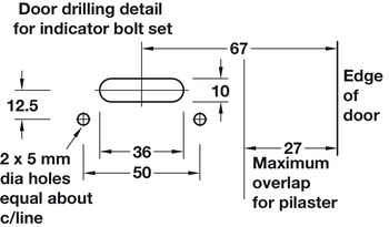 Indicator Bolt Set, Cubicle Fittings