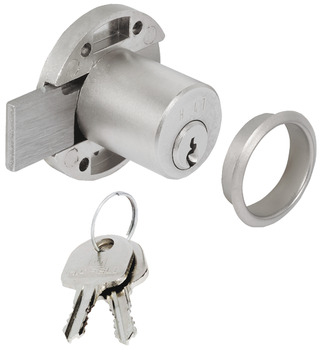 Inlaid Lock, with Ø 22 mm Cylinder, Backset 20 mm, Minilock 40