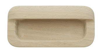 Inset Handle, Unfinished Wood, 105 mm
