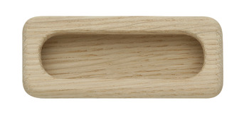 Inset Handle, Unfinished Wood, 94 mm
