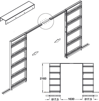 Jointing Set, for Sliding Interior Pocket Doors, Slido