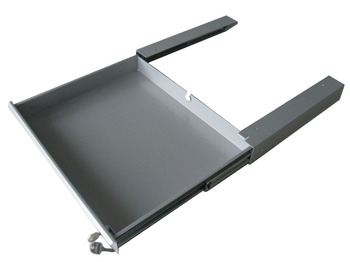 Laptop Pull Out Security Drawer, with Front Panel and Recessed Handle