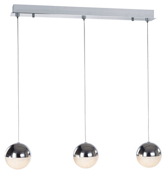 LED Ceiling Bar Pendant, Adjustable, Rated IP20, 3 Light, Eclipse
