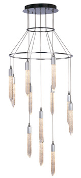 LED Ceiling Pendant, Adjustable, Rated IP20, 12 Light, Shard