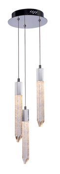LED Ceiling Pendant, Adjustable, Rated IP20, 3 Light, Shard
