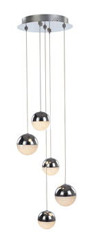 LED Ceiling Pendant, Adjustable, Rated IP20, 5 Light, Eclipse