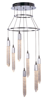 LED Ceiling Pendant, Adjustable, Rated IP20, 7 Light, Shard