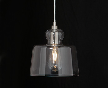 LED Ceiling Pendant, Drum, Rated IP20, Ø 218 mm, 1 Light, Harrry
