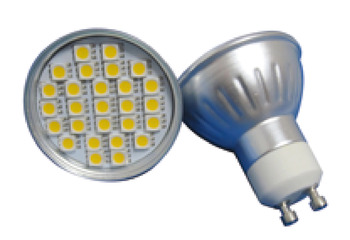 LED Lamp, GU10, 5 W, Non-Dimmable, SMD