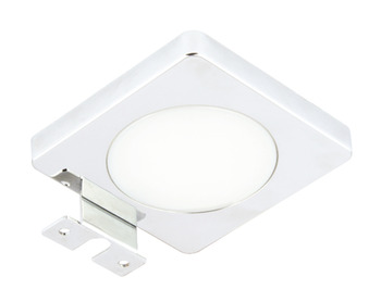 LED Mirror Light 12 V, 90 x 90 mm, Rated IP44, Loox Compatible