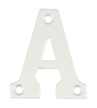 Letter, A-D, 52 mm High, Aluminium