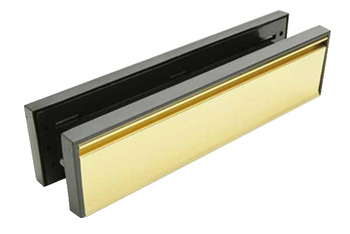 Letter Plate Assembly, to Suit Non-Fire Rated Doors, Steel/Plastic