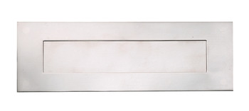 Letter Plate, Sprung Flap, 330 x 110 mm, Stainless Steel