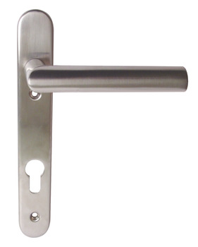 Lever Handles, on Backplates for Euro Profile Cylinder Lock, to Suit Multipoint Locks, Stainless Steel